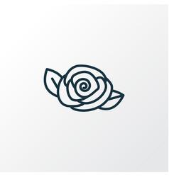 camellia icon line symbol premium quality vector image