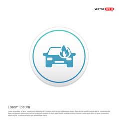 car crash accident icon hexa white background vector image
