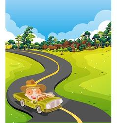 Car trip vector image