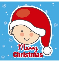 Child with Santa Claus hat vector