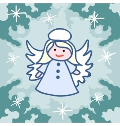 Christmas angel doodles vector