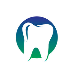 circle tooth dental healthcare logo vector image