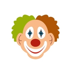 Clown icon flat vector image