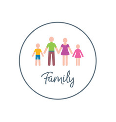 Family design template with two children vector