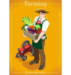 Farm Services People Isometric vector image