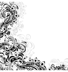 floral pattern of abstract elements vector image