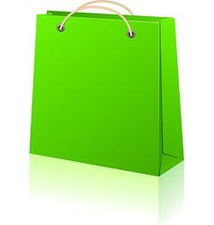 Green shopping bag vector image