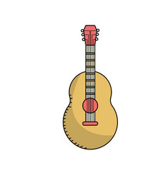 Guitar musical instrument to play music vector