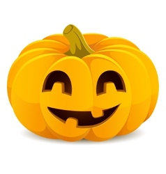 Halloween pumpkin smiling jack-o-lantern on a vector