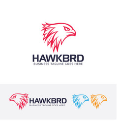 Hawk head logo design vector