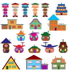 House cartoon set vector