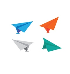 Icons paper planes vector