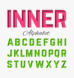 Inner shadow font vector