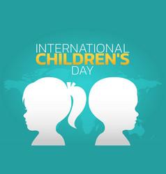 International children day logo icon design vector