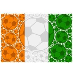 Ivory Coast soccer balls vector image