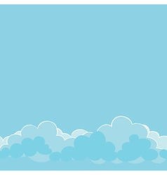 Light blue clouds on the sky vector