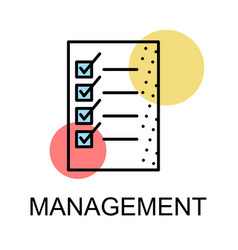 list icon for management on white background vector image