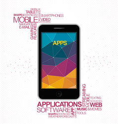 Mobile software application vector