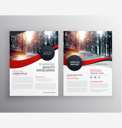 Modern red business flyer poster design template vector
