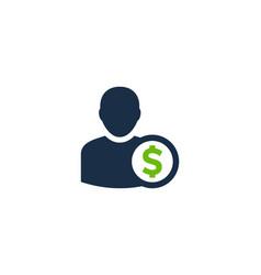 money user logo icon design vector image