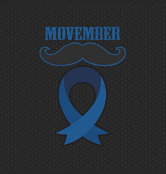 movember cancer awareness event poster banner and vector image