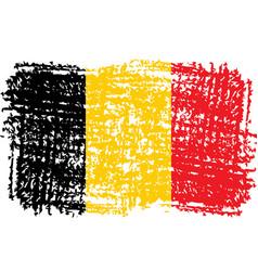 national flag belgium vector image