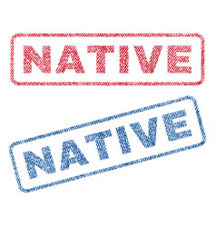 Native textile stamps vector