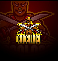 Ninja chocolate esport mascot logo design vector