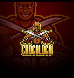 Ninja chocolate esport mascot logo design vector