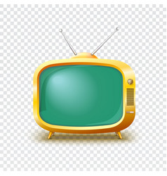 Old blank TV icon vector image