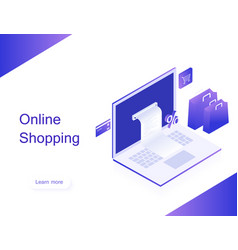 Online shop transfer money from card vector