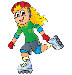 outdoor sport theme image 1 vector image