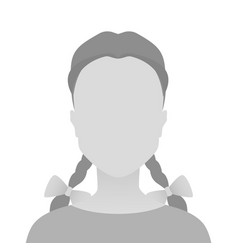 Person gray photo placeholder little girl vector