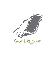 phone screen mobile hand device digital vector image