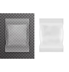 plastic empty food packaging bag icon transparent vector image