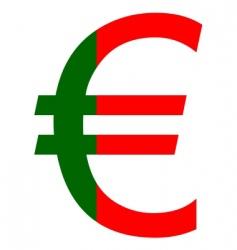 Portuguese euro vector image