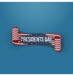 Presidents day ribbon with usa flag pattern vector