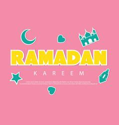 ramadan kareem greeting background with vector image