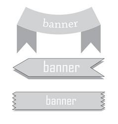 Retro ribbon baner vector