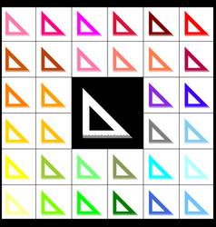 ruler sign felt-pen 33 vector image vector image