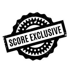 Score exclusive rubber stamp vector