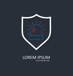 Security design with alarm logo vector