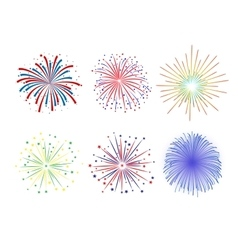Set Firework design on white background vector image