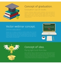 Set of online education concept vector