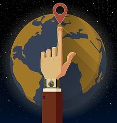 Smart watch Earth vector