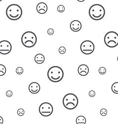 Smiley faces seamless pattern vector image