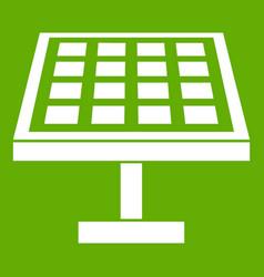 solar energy panel icon green vector image