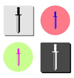 sword flat icon vector image