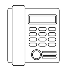 Telephone icon outline style vector