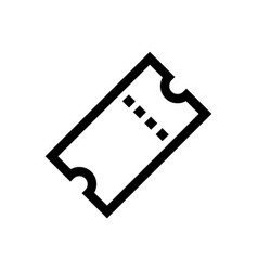 ticket line art outline ticket icon black and vector image